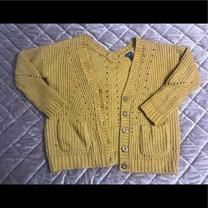 Daytrip Mustard Button-Front Cardigan with pockets